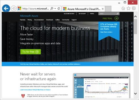 screenshot website azure