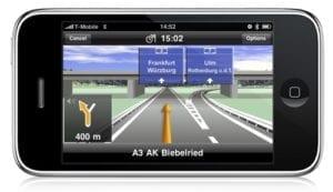 navigationsapp auf iphone