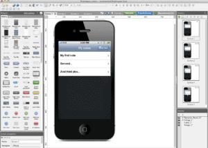 prototyper justinmind anwendung screenshot