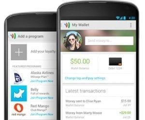 google wallet app auf smartphones