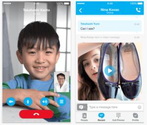 screenshot von skype anruf