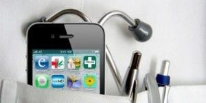 iphone neben stetoskop