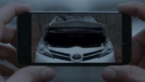 erweiterte Realitätapp von auto