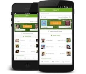 mobile Anwendungen auf zwei smartphones