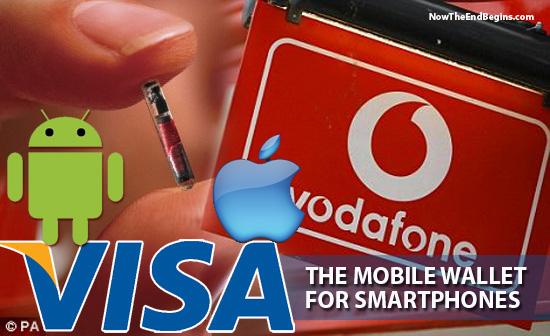 vodafone und visa mit android und apple logo