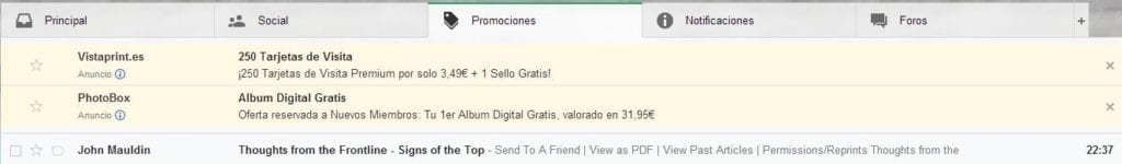 screenshot werbungs einstellungen gmail