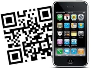 qr code neben iphone