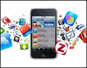 iphone mit vielen app symbolen