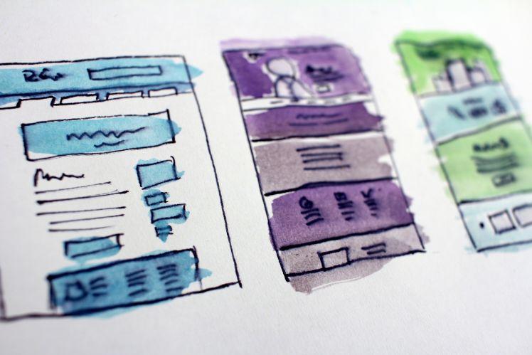 mockups von app blau lila gruen