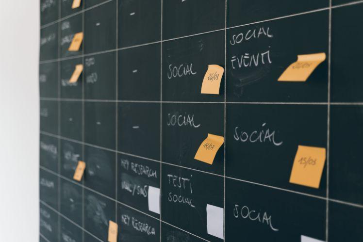 social media planung an tafel