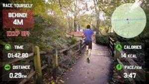 spiele app in der ein mann joggt