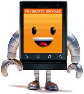 handy roboter mit 404 error