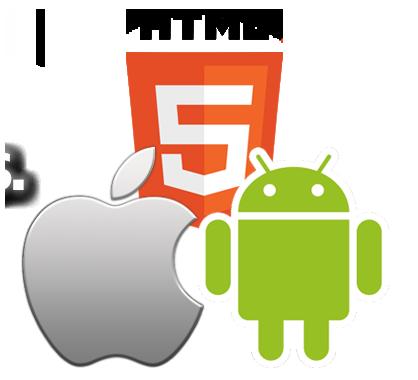 symbole von html 5 android und apple