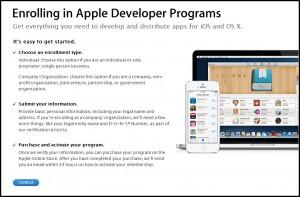 apple entwickler programm eintragen