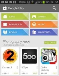screenshot von google play app store