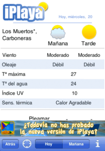 iplaya wetter app screenshot
