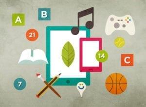 mobile geraete mit symbolen