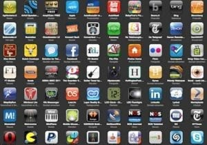 mobile Applikationen symbole