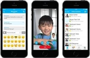 mobile Applikationen - skype-ios-7