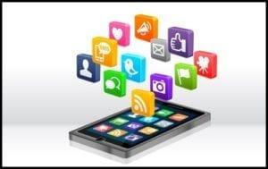 app symbole kommen aus smartphone
