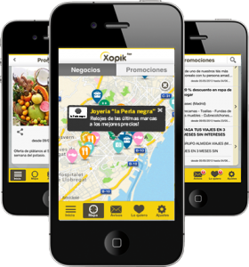 xoptik app auf drei iphones