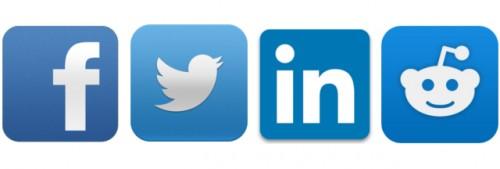 logos von facebook twitter linkedin