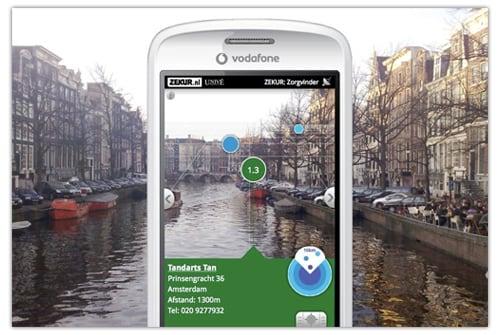 smartphone app mit erweiterter realitaet
