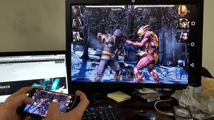 Spiel auf dem Handy und Desktop