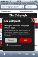 screenshot the telegraph app