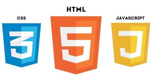 css html javascript mit symbolen