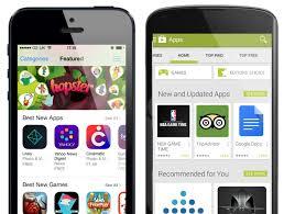 app store auf zwei smartphones