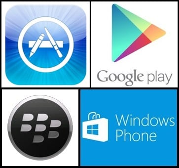 google play windows phone store logos