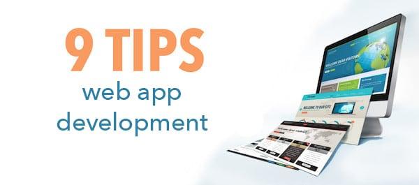 9 Tips web app development schrift neben bildschirm