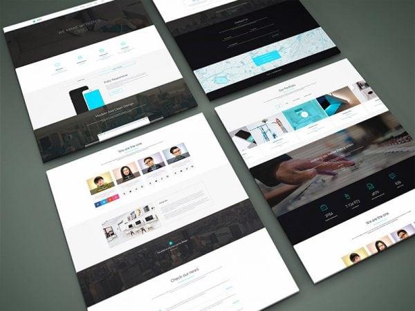 webdesign vier screenshots
