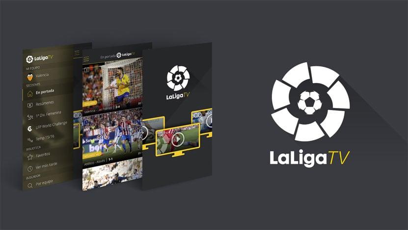 laliga tv app screenshots und logo