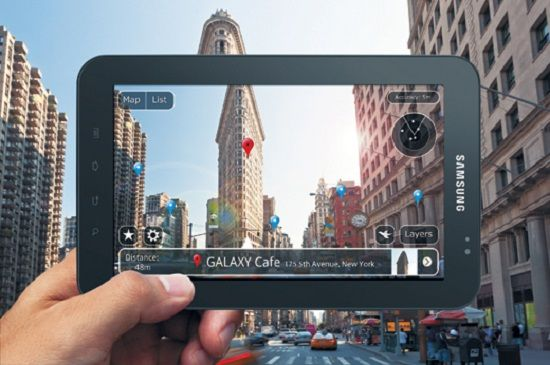 samsung geraet mit augmented reality