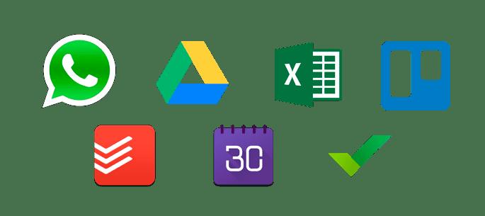 verschiedene app logos