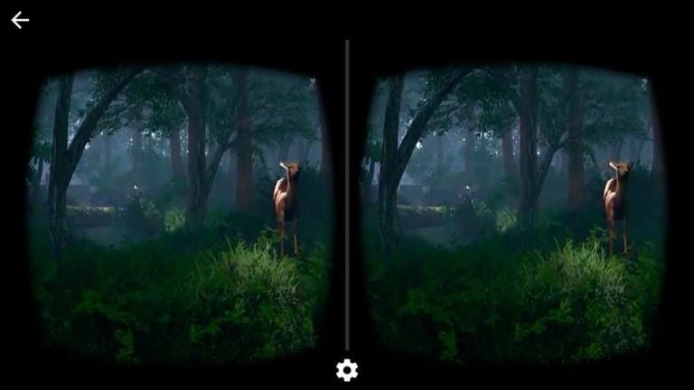 virtual reality app im wald