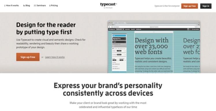 screenshot typecast app