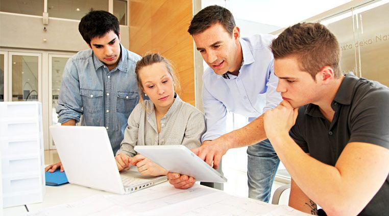 Schulung von Angestellten mit Business Apps