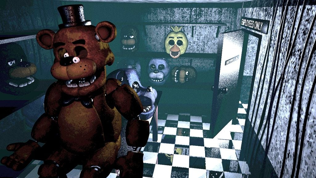 halloween spiel five nights at freddys mit grossem teddybaer