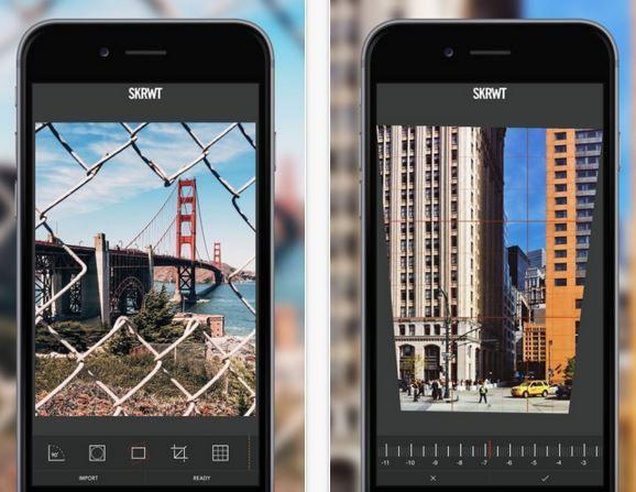 Drohnen-App SKWRT auf zwei schwarzen iphones
