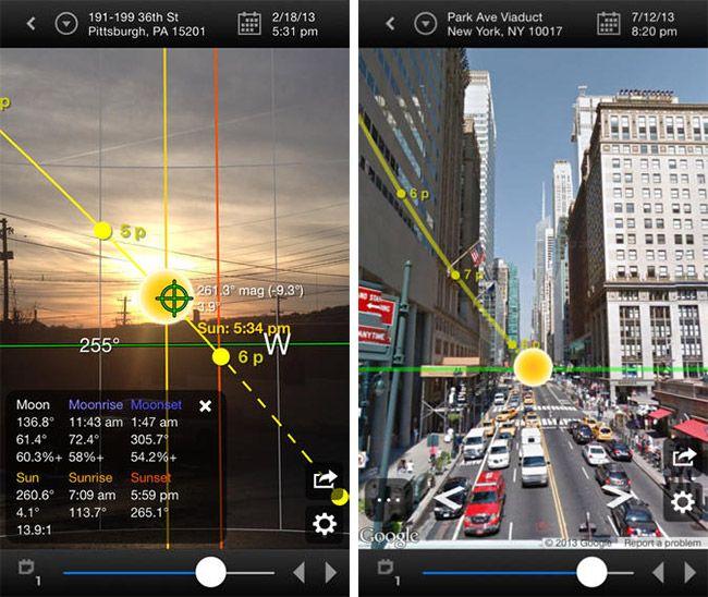 Drohnen-App Sun Surveyer app ausschnitt innenstadt und natur