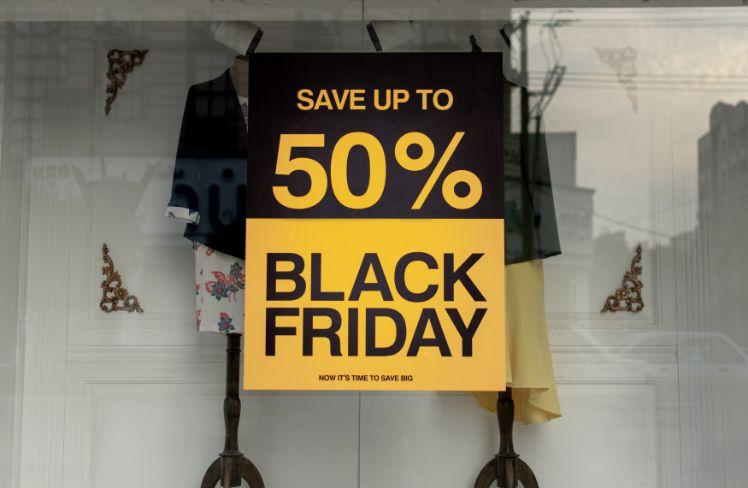 black friday sale schild schwarz gelb