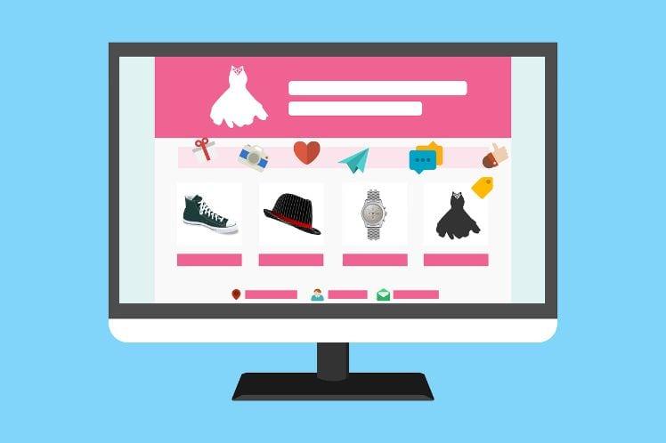 Darstellung entwurf layout einer website auf bildschirm