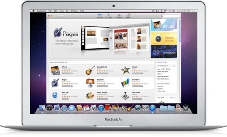 Macbook Air mit geoeffnetem App store