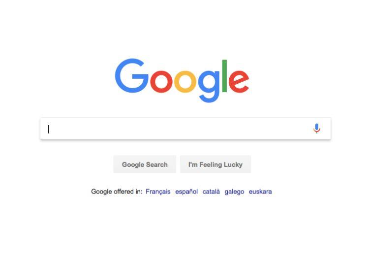 Screenshot von Google Suchfeld