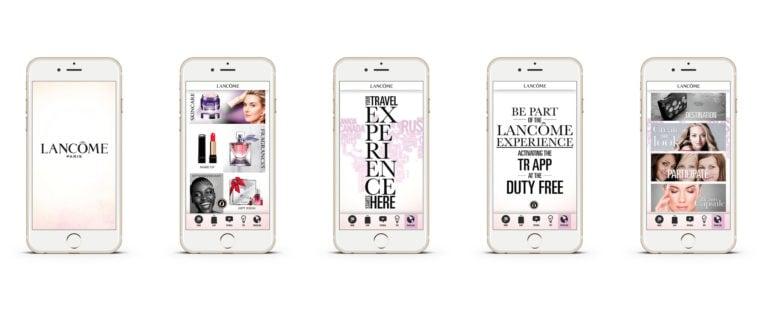 fuenf iPhones mit web app von lancome