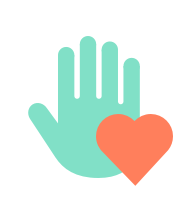 Symbol Hand und Herz