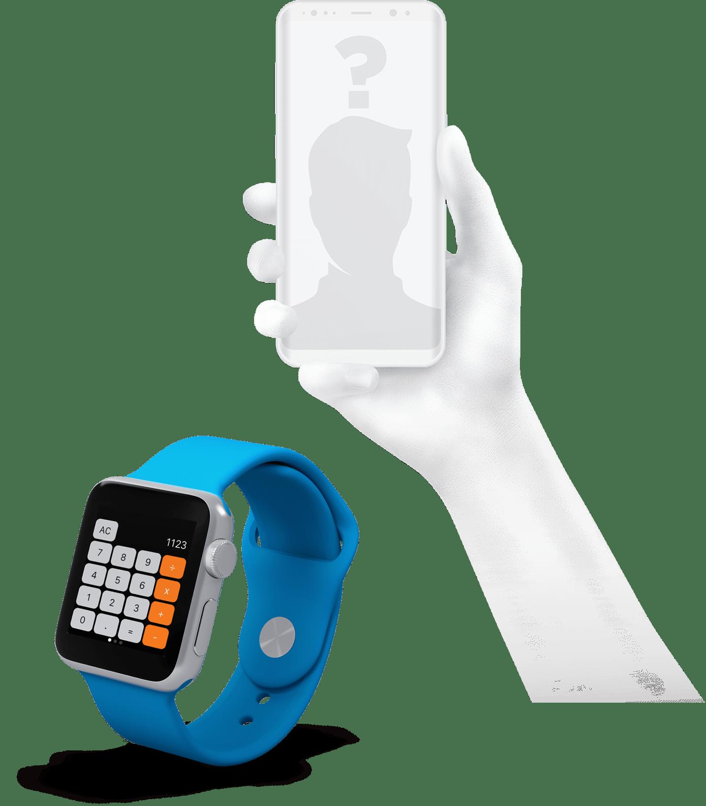 Smartwatch und mobile App